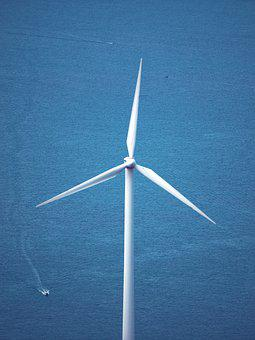 Sea, Windmill, Sky, Island, Summer, Nature, Ocean