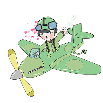 Airplane, Aircraft, Pilot, Hearts, Love, Air Force