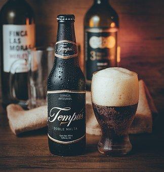 Beer, Drink, Glass, Bottle, Tempus Doble Malta, Alcohol