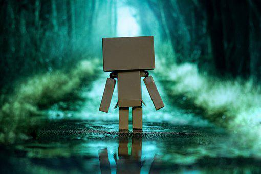 Road, Character, Puddle, Amazon Robot, Forest