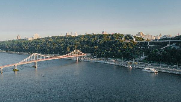 River, City, Bridge, Port, Boats, Cityscape, Skyline