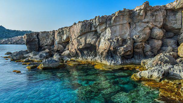 Cliff, Coast, Sea, Cape Greco, Ocean, Nature