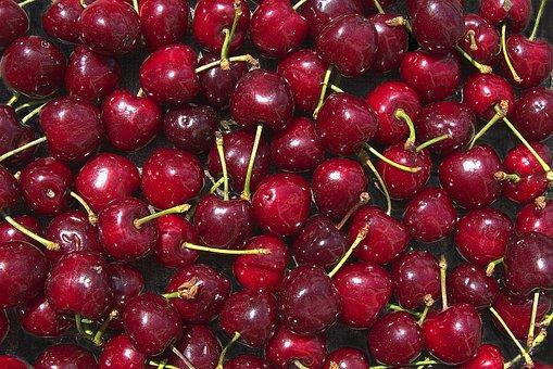 Cherries, Fruits, Food, Fresh, Ripe, Bio, Products
