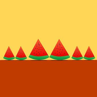 Watermelon, Fruit, Slice, Juicy, Sweet, Organic