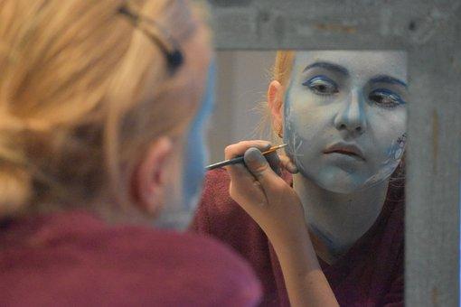 Grimeren, Face Paint, Woman, Portrait, Face