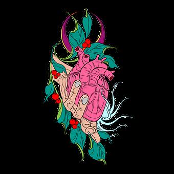 Heart, Hand, Leaves, Foliage, Health, Medical, Medicine