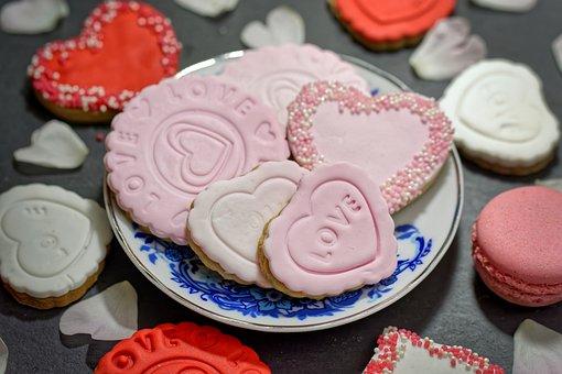 Pink Biscuits, Cookies, Pastry, Dessert, Food, Snack