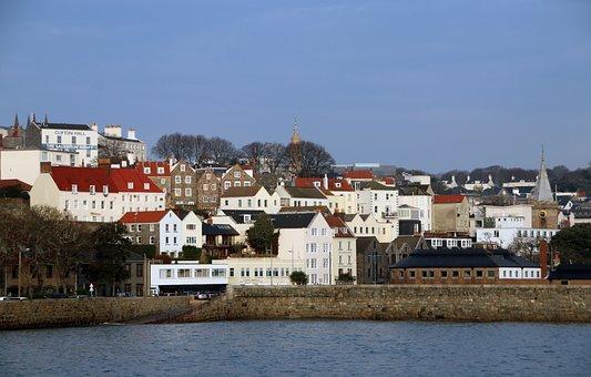 Guernsey, Town, Bay, Buildings, Village, City, Coast
