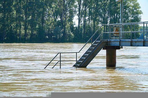 Flood, Stairs, Pier, Water Level, Flooded, Water