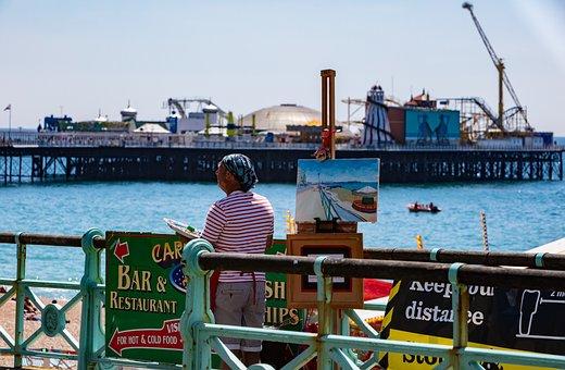 Artist, Painting, Pier, Port, Creative, Artistic, Paint