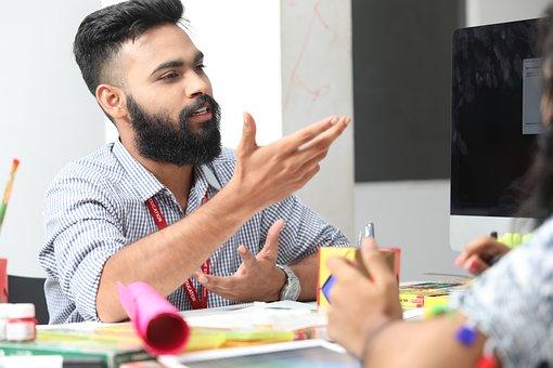 Manager, Man, Explaining, Speak, Talk, Conversation