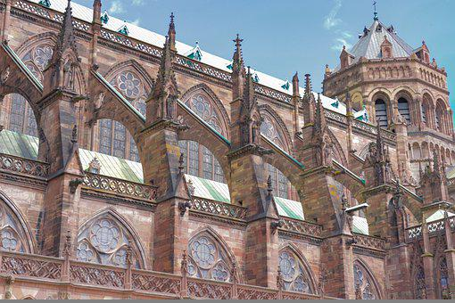 Cathedral, Strasbourg, Building, Architecture, Historic
