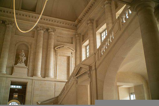 Palace Of Versailles, Castle, Interior, Stairs