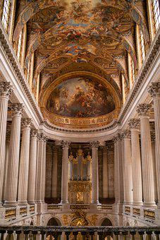 Palace Of Versailles, Castle, Ceiling, Interior