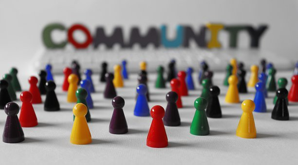Community, People, Game Pieces, Concept, Society, Team
