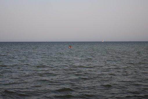 Sea, Ocean, Waves, Horizon, Sky, Water, Seascape