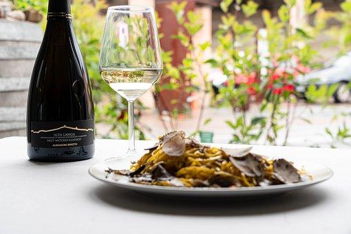 Wine, Glass, Pasta, Wine Bottle, Drink, Alcohol