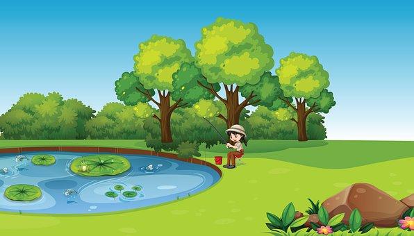 Fishing, Pond, Nature, Activity, Hobby, Lake, Trees