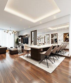 Dining Area, Interior Design, Furniture, Apartment