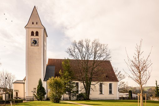 Church, Building, Tower, Clock, Steeple, Architecture