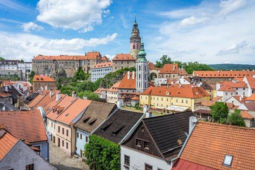 Cesky Krumlov, City, Czech Republic, Buildings
