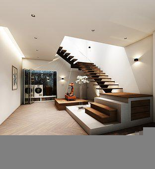 Home, Stairs, Interior Design, House, Decoration
