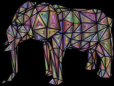 Elephant, Animal, Low Poly, Pachyderm, Wildlife, Mammal