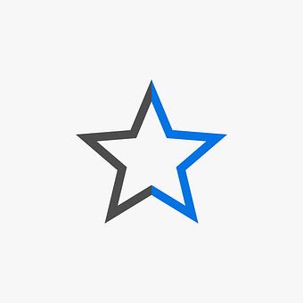 Star, Shape, Favorite, Library, Icon, Line Art, Love