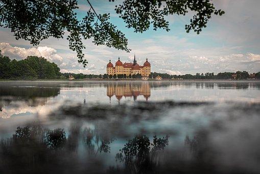 Moritzburg Castle, Lake, Reflection, Castle, Palace