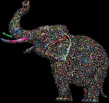 Elephant, Animal, Sketch, Pachyderm, Wildlife, Line Art