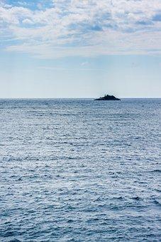 Sea, Island, Horizon, Ocean, Seascape, Nature, Sky