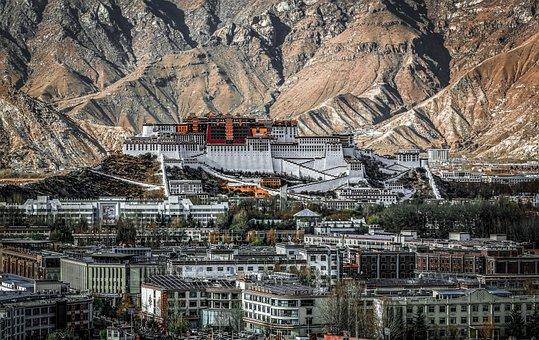 Palace, Tibet, Mountains, Potala, Lhasa, Landscape