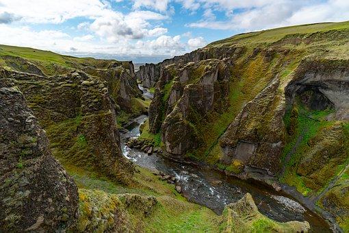 Canyon, River, Cliffs, Nature, Gorge, Mountains