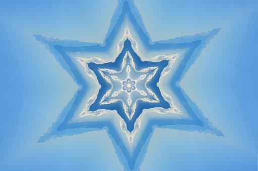 Blue, Star, Background, Decor, Decorative, Wallpaper
