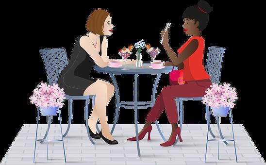 Women, Cafe, Friendship, Chat, Talk, Brunch, Coffee