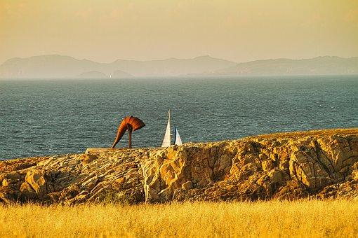 La Coruña, Spain, Candle, Galicia, Ocean, Costa, Trip