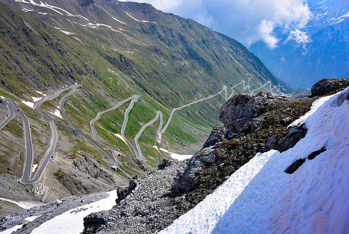 Road, Mountain Pass, Stelvio Pass, Travel, Ascent