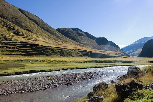 Stream, Mountains, Nature, Landscape, Scenery