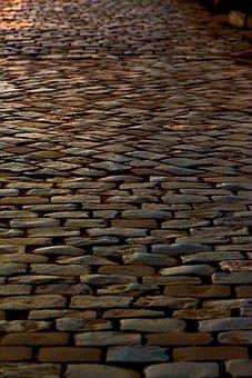 Cobblestone, Walkway, Street, Texture, Pattern