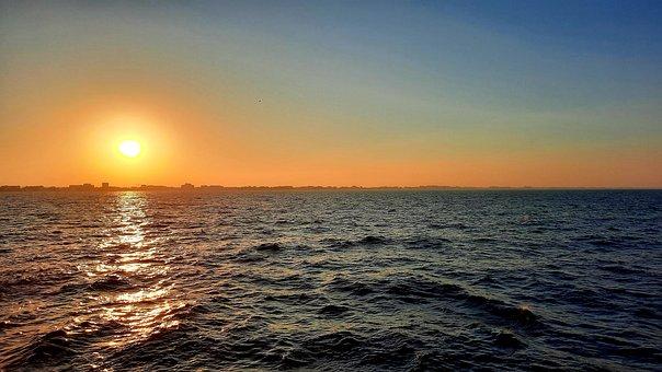 Sunset, Sun, Sea, Black Sea, Waves, Ocean, Water