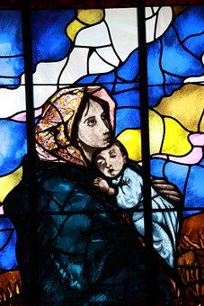 Stain Glass, Colourful, Divine, Catholic, Faith