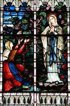 Stain Glass, Religion, Faith, Colourful, Church, Divine