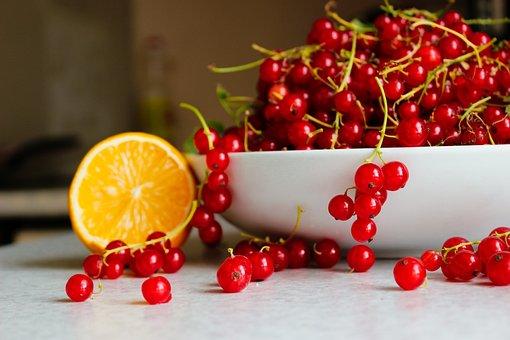 Red Currants, Orange, Fruits, Berries, Currants, Food