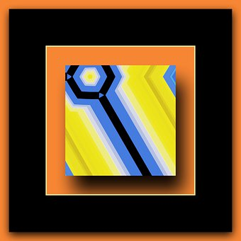 Abstract, Geometric, Frame, Colorful