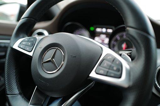 Steering Wheel, Car, Mercedes, Mercedes-benz, Interior