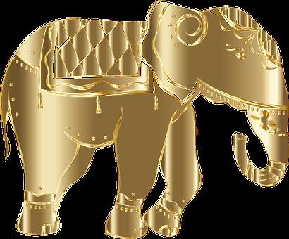 Elephant, Animal, Pachyderm, Trunk, Wildlife, Line Art