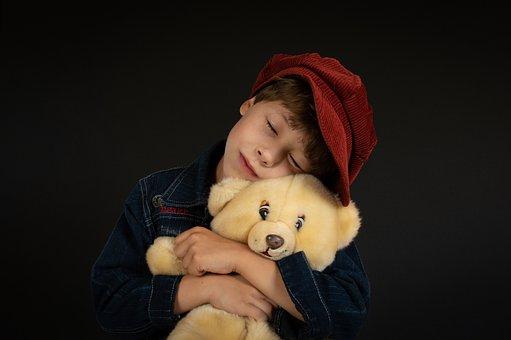 Boy, Model, Portrait, Pose, Style, Cap, Soft Toy
