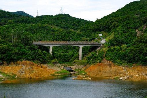 Sanzhoutian, Reservoir, Mountains, Wutong Mountain