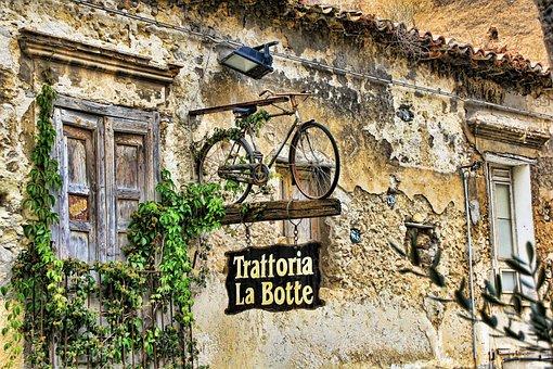 Calabria, Italy, Advertisement, Bike, Capo Vaticano