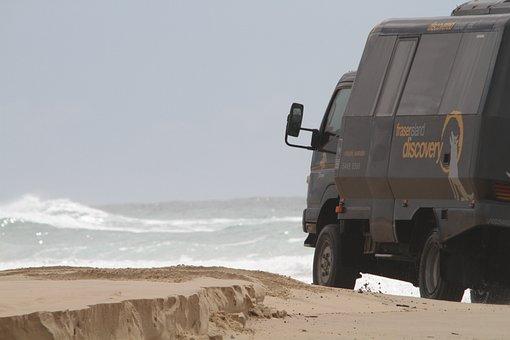 Auto, Beach, Truck, Bus, West Australia, Australia